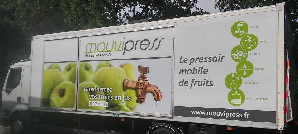 Mouvipress, pressoir mobile de fruits en Bretagne, Pays de la Loire et Normandie